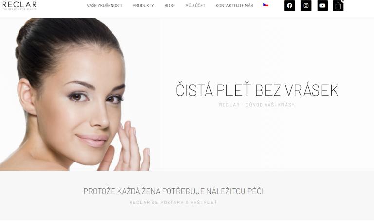 Přetvoření webu, konceptu a prezentace Reclar   WPDistro.cz   WordPress